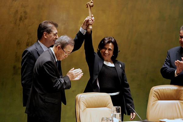 HE Shaikha Haya bint Rashed Al Khalifa is elected President of the 61st UN General Assembly