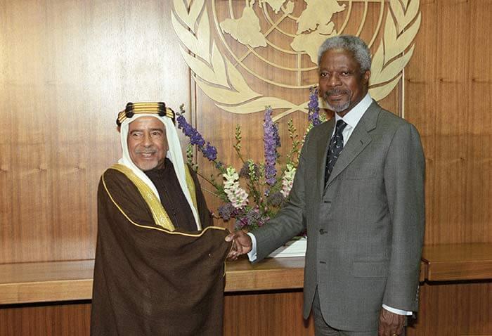 HH Shaikh Isa bin Salman Al Khalifa meets with former UN Secretary-General Kofi Annan